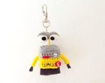 Wall-E Key ring Amigurumi, Wall-E Amigurumi, Crochet Wall-E, Handmade crochet Keychain, Wall-E Keychain