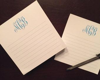 Monogrammed Notepad/Desk Slab