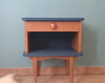 Vintage with niche and drawer bedside