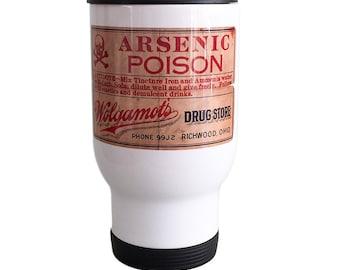 Travel Mug Arsenic Poison Label