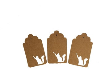 Cat and Butterfly Gift Tags