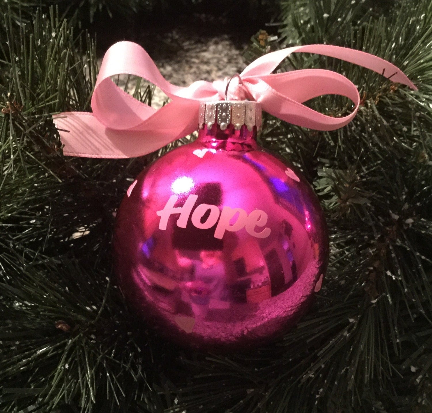 Breast cancer ornament - Breast Cancer Ornament Christmas Ornament Pink Ribbon Cancer Survivor Cancer Awareness Awareness Ribbon Personalized