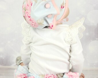Frilly Milly ruffle nappy pants cover blue french hatbox Tanya Whelan