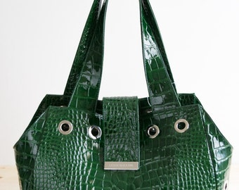 Shopping bag and dog carrier in real Italian leather