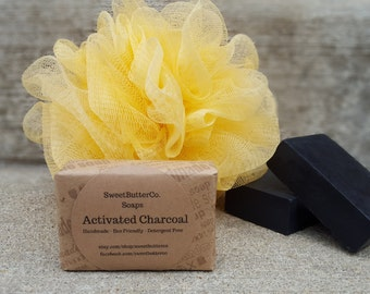 Acne Bamboo Activated Charcoal Soap - Acne Soap, Handmade Soap, Detergent Free Soap, Unscented Soap, Bamboo Charcoal Soap