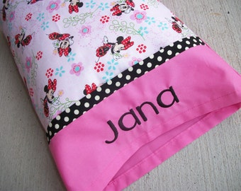 Personalized Minnie Mouse Toddler/Travel Size Pillow