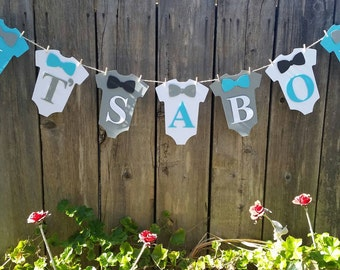 Its a boy banner, baby shower, bow ties,onesies banner