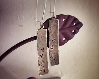 Dandelion Stamped Dangles