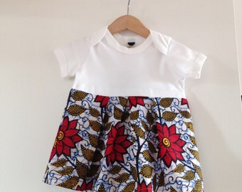 African Print Baby T-Dress