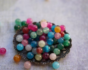 Colorful Jade Beads, Bead Supplies