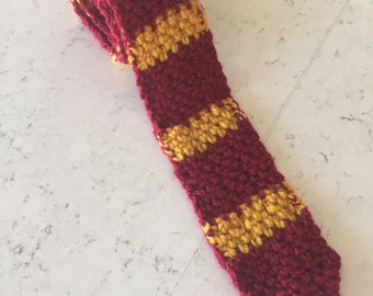 Harry Potter, Harry Potter Necktie, Mens Necktie, Necktie, Crochet Necktie, Crochet Tie, Tie, Gryffindor, Slytherin, Ravenclaw, Hufflepuff