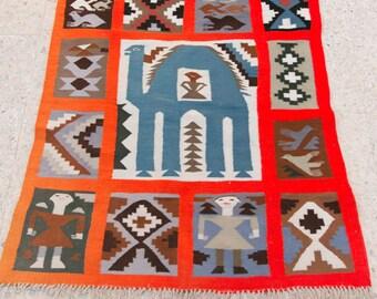 rugs, orange rug, turkish rug, morrocan rug, berber rug,small rug, persian rug , kilim, moroocan kilim,african rug