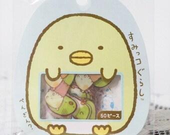 Kawaii Japan Sticker Flakes - Sumikko Gurashi Penguin (50 pieces for planners, scrapbooks etc)