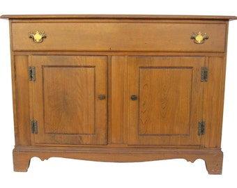 Heywood Wakefield Mid Century Buffet Country Hutch Farmhouse Kitchen Base Rustic Bath Base French Country Changing