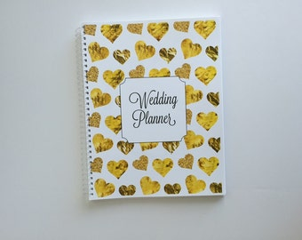 Wedding Planner & Organizer - Gold Foil in assorted shapes