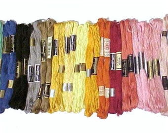 Embroidery thread or floss Assorted colors 30 skeins