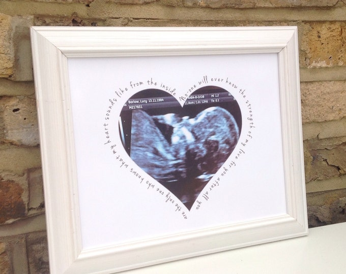 Personalised photo framed print with any quote, Special memories, Ultrasound photo print, Family, Children' photo gift, New baby gifts