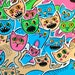 20 stickers on adhesive vinyl. Cute, quirky, for the crazy cat lady . Hand drawn decals, ready to stick on iphones, laptops, car windows...