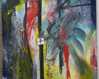 Christian Mixed Media Canvas Abstract Painting Contemporary Modern art