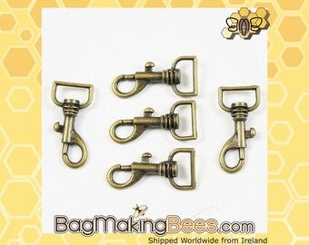 1/2 Inch Antique Gold Trigger Hook For Bags And Purses [Set Of 5]