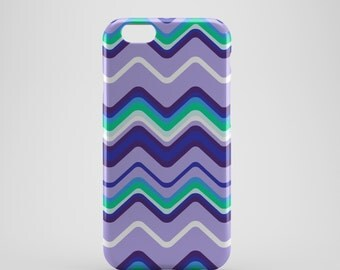 Wavy Lines Chevron Phone case,  iPhone X Case, iPhone 8 case,  iPhone 6s,  iPhone 7 Plus, IPhone SE, Galaxy S8 case, Phone cover, SS140c