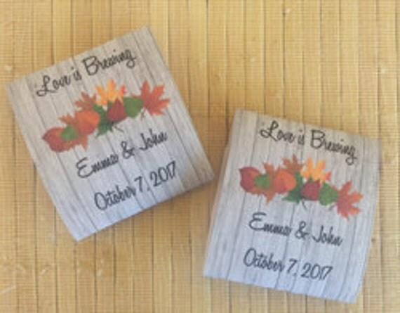 40 Wedding Tea Bag Favors, bridal shower tea party favors, tea packets, tea pot favors, fall wedding favors, fall leaves wedding favors