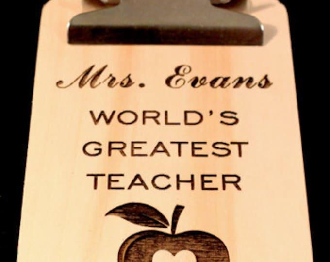 Teacher Gifts, Back To School teacher gift, Personalized Teacher Gift, Teacher Appreciation Gift, Mini Clipboard, Personalized Clipboard