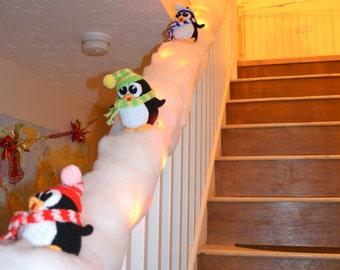Crochet Pattern, Penguins, Christmas Decoration, Stairs Decor