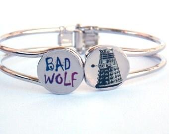 Doctor Who Bracelet BAD WOLF and Dalek
