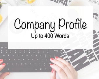 Company Profile - Professional Writing - Business Writing - Etsy Business