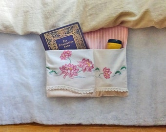 BEDSIDE CADDY - VINTAGE Embroidery