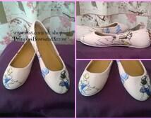 Disney Princess customized ladies shoes, heels, wedges or flats