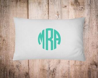 Monogrammed Pillow Case, Custom Pillow Case, Monogrammed Pillowcase, Gift, Wedding Gift, Pillowcase, Gifts for Her, Monogrammed Bedding