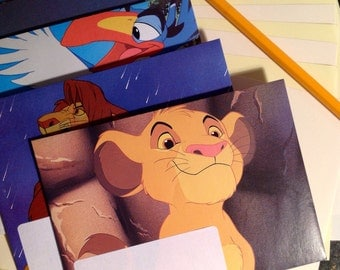 Letter Writing Set Disney's The Lion King Handcrafted