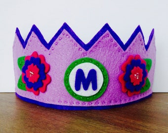 Felt Birthday Crown, Flower Crown, Felt Flower Crown