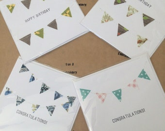 Handmade card pack of 4 - 2x happy birthday 2x congratulations