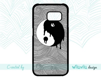 Black & white Yin and Yang Chinese In and Jan symbol magical case for Samsung Galaxy phone cover for Samsung S3 S4 S5 S6 S7 S7 edge phones