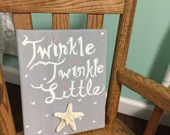 Nursery painting twinkle little star