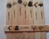 GAME OF THRONES natural wooden laser engraved bookmark Stark Targaryen Martell Lannister Arryn Greyjoy Tyrell Tully Baratheon #gameofthrones