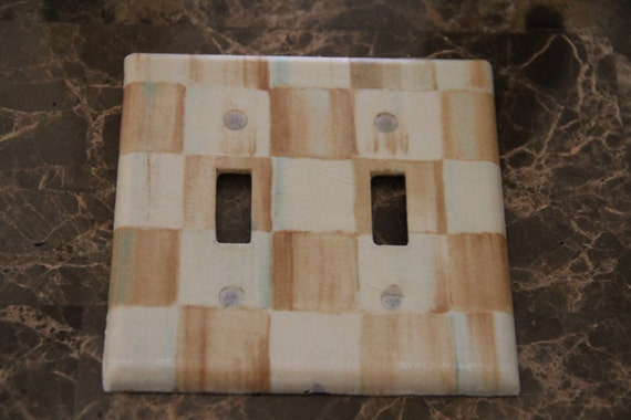 Mackenzie Childs Parchment Check Tissue Paper Custom By