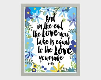 Song Lyric Wall Art song lyrics wall art lumineers lyrics typography print