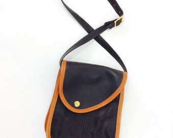 Black leather bag vintage leather bag vintage black bag black shoulder bag vintage shoulder bag black purse small leather purse black bag