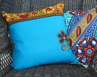 """African Throw Pillow Case - 16""""x16"""""""