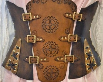 Hand Made Leather three in one Handmade Underbust Corset