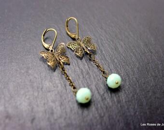 Butterfly art deco earrings