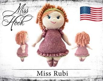 "crochet doll pattern ""Miss Rubi"" eBook PDF (english language)"