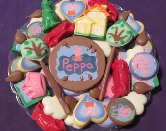 Peppa Pig chocolate candy tray
