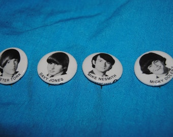 MONKEES Individual Fan Pins All 4