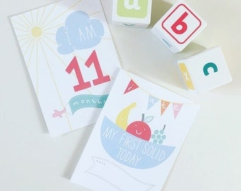 Baby Milestone Cards | Record & Photograph your babies | Gift | New Mum and Dad