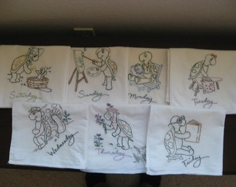 Dishtowels -  Embroidered